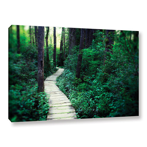 Brushstone Earth Path Gallery Wrapped Canvas WallArt