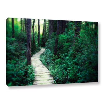 Brushstone Earth Path Gallery Wrapped Canvas WallArt
