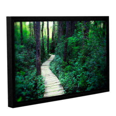 Brushstone Earth Path Gallery Wrapped Floater-Framed Canvas Wall Art