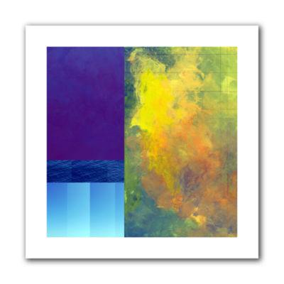 Brushstone Earth Squares Ii Canvas WallArt