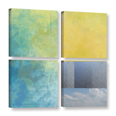 Brushstone Brushstone Earth Textures Squares I 4-pc. Square Gallery Wrapped Canvas Wall Art