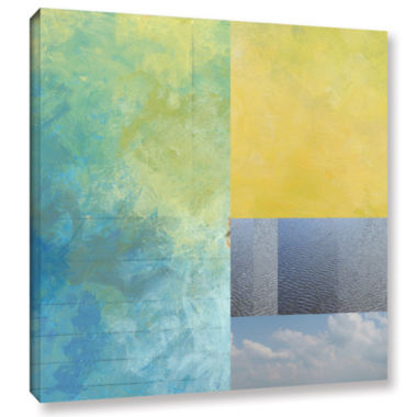 Brushstone Brushstone Earth Textures Squares I Gallery Wrapped Canvas Wall Art