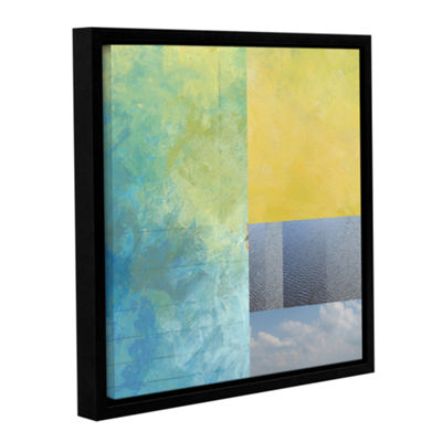 Brushstone Earth Textures Squares I Gallery Wrapped Floater-Framed Canvas Wall Art