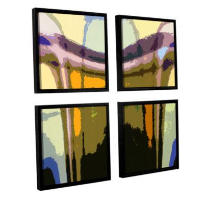 Brushstone Brushstone Earth To Heaven 4-pc. SquareFloater Framed Canvas Wall Art