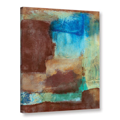 Brushstone Earth Tone Abstract GalleryWrapped Canvas Wall Art