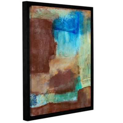 Brushstone Brushstone Earth Tone Abstract GalleryWrapped Floater-Framed Canvas Wall Art
