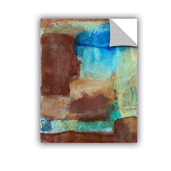 Brushstone Earth Tone Abstract Removable Wall Decal