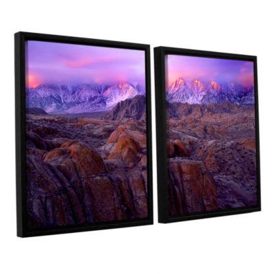 Brushstone Brushstone Eastern Sierra Sunrise 2-pc.Floater Framed Canvas Wall Art