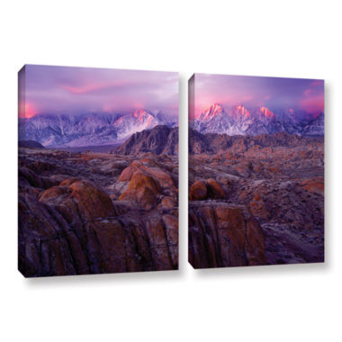 Brushstone Brushstone Eastern Sierra Sunrise 2-pc.Gallery Wrapped Canvas Wall Art