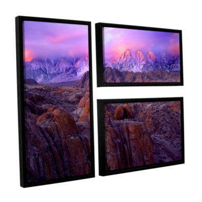 Brushstone Eastern Sierra Sunrise 3-pc. Flag Floater Framed Canvas Wall Art