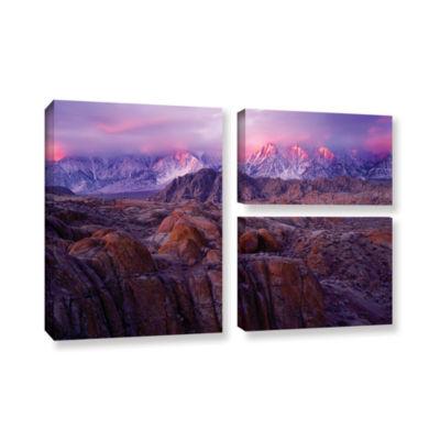 Brushstone Eastern Sierra Sunrise 3-pc. Flag Gallery Wrapped Canvas Wall Art