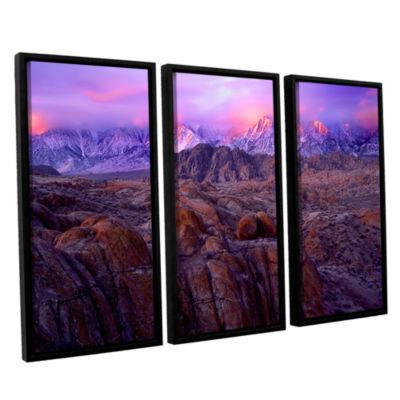 Brushstone Eastern Sierra Sunrise 3-pc. Floater Framed Canvas Wall Art