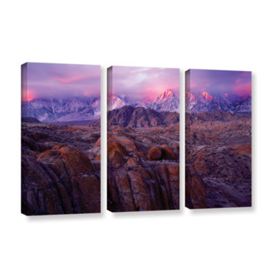 Brushstone Eastern Sierra Sunrise 3-pc. Gallery Wrapped Canvas Wall Art