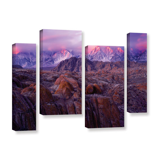 Brushstone Eastern Sierra Sunrise 4-pc.Gallery Wrapped Staggered Canvas Wall Art