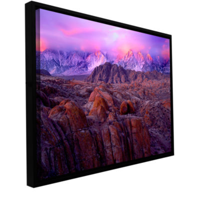 Brushstone Brushstone Eastern Sierra Sunrise Gallery Wrapped Floater-Framed Canvas Wall Art