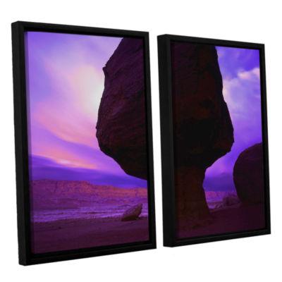 Brushstone Brushstone Echo Cliffs Storm Light 2-pc. Floater Framed Canvas Wall Art