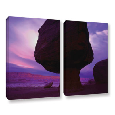 Brushstone Echo Cliffs Storm Light 2-pc. Gallery Wrapped Canvas Wall Art