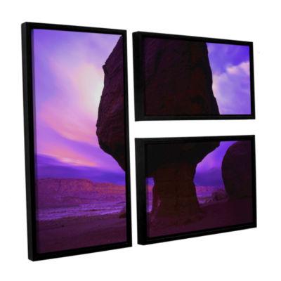 Brushstone Echo Cliffs Storm Light 3-pc. Flag Floater Framed Canvas Wall Art