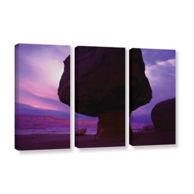 Brushstone Echo Cliffs Storm Light 3-pc. Gallery Wrapped Canvas Wall Art