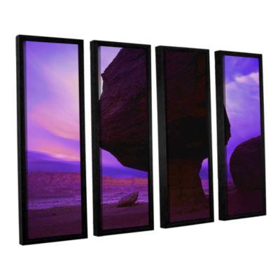 Brushstone Brushstone Echo Cliffs Storm Light 4-pc. Floater Framed Canvas Wall Art