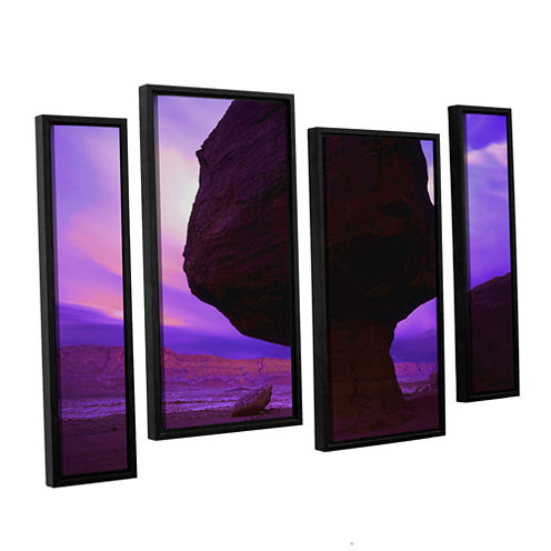 Brushstone Echo Cliffs Storm Light 4-pc. Floater Framed Staggered Canvas Wall Art