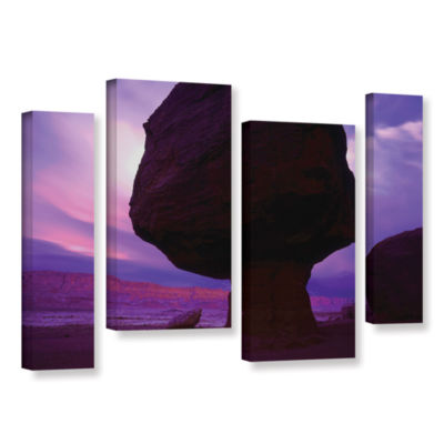 Brushstone Brushstone Echo Cliffs Storm Light 4-pc. Gallery Wrapped Staggered Canvas Wall Art