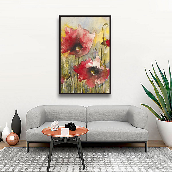 Brushstone Elegance Gallery Wrapped Floater-FramedCanvas Wall Art