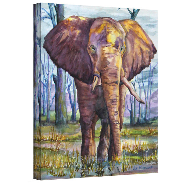 Brushstone Elephant Gallery Wrapped Canvas Wall Art