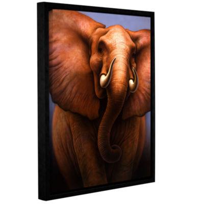Brushstone Brushstone Elephant Gallery Wrapped Floater-Framed Canvas Wall Art