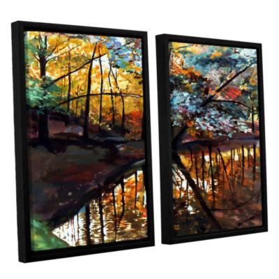 Brushstone Elysium 2-pc. Floater Framed Canvas Wall Art