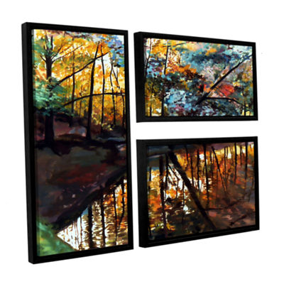 Brushstone Elysium 3-pc. Flag Floater Framed Canvas Wall Art