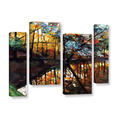 Brushstone Brushstone Elysium 4-pc. Gallery Wrapped Staggered Canvas Wall Art