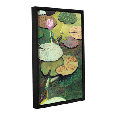 Brushstone Emerald Pond Gallery WrappedFloater-Framed Canvas Wall Art