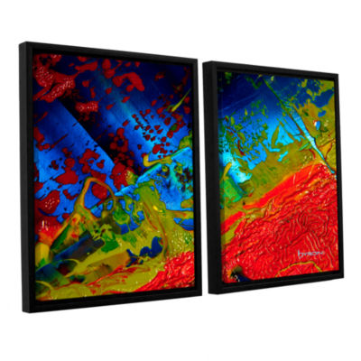 Brushstone Brushstone Emotional Chaos 2-pc. Floater Framed Canvas Wall Art
