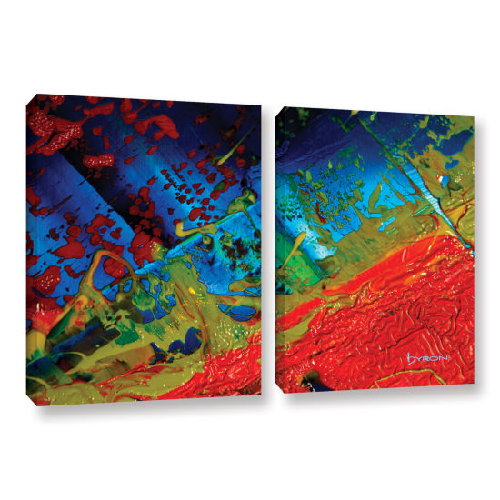 Brushstone Emotional Chaos 2-pc. Gallery Wrapped Canvas Wall Art