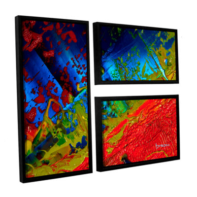Brushstone Emotional Chaos 3-pc. Flag Floater Framed Canvas Wall Art