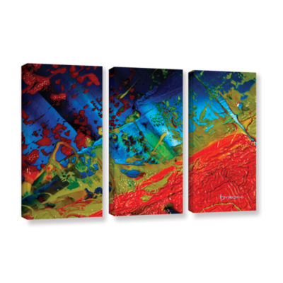 Brushstone Emotional Chaos 3-pc. Gallery Wrapped Canvas Wall Art