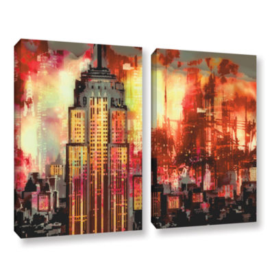 Brushstone Brushstone Empire IV 2-pc. Gallery Wrapped Canvas Wall Art