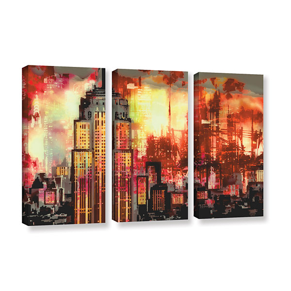 Brushstone Brushstone Empire IV 3-pc. Gallery Wrapped Canvas Wall Art