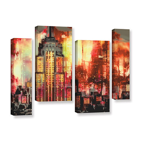 Brushstone Empire IV 4-pc. Gallery Wrapped Staggered Canvas Wall Art