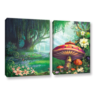 Brushstone Brushstone Enchanted Forest 2-pc. Gallery Wrapped Canvas Wall Art