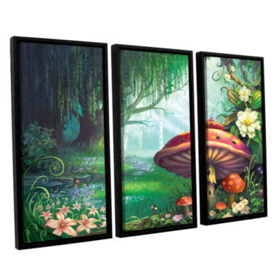 Brushstone Enchanted Forest 3-pc. Floater Framed Canvas Wall Art