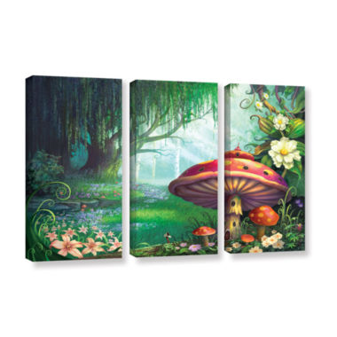 Brushstone Brushstone Enchanted Forest 3-pc. Gallery Wrapped Canvas Wall Art