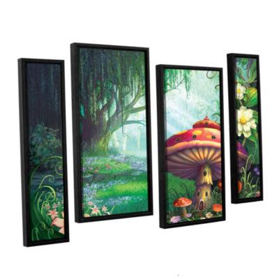 Brushstone Brushstone Enchanted Forest 4-pc. Floater Framed Staggered Canvas Wall Art