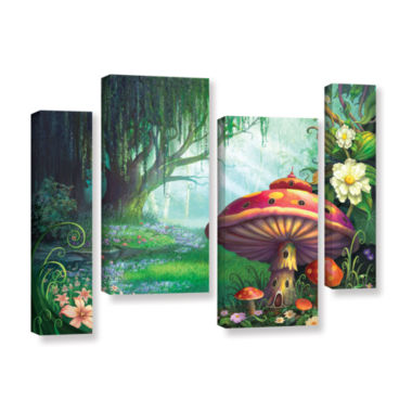 Brushstone Brushstone Enchanted Forest 4-pc. Gallery Wrapped Staggered Canvas Wall Art
