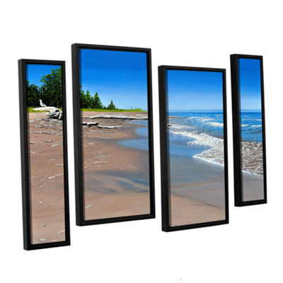 Brushstone Driftwood Beach 4-pc. Floater Framed Staggered Canvas Wall Art