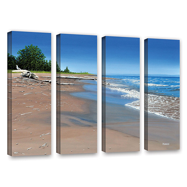 Brushstone Driftwood Beach 4-pc. Gallery Wrapped Canvas Wall Art