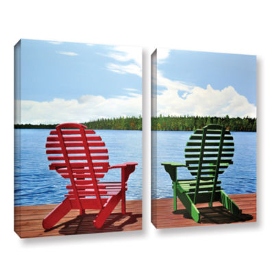 Brushstone Dockside 2-pc. Gallery Wrapped Canvas Wall Art