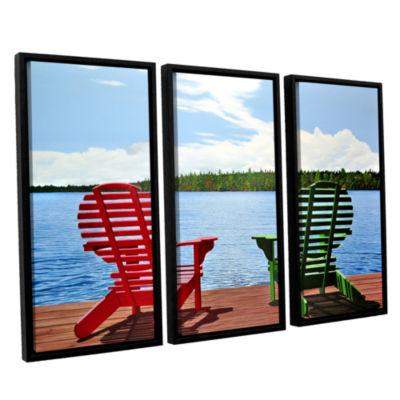 Brushstone Dockside 3-pc. Floater Framed Canvas Wall Art