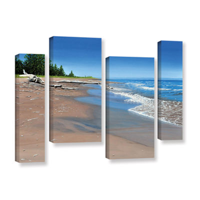 Brushstone Driftwood Beach 4-pc. Gallery Wrapped Staggered Canvas Wall Art
